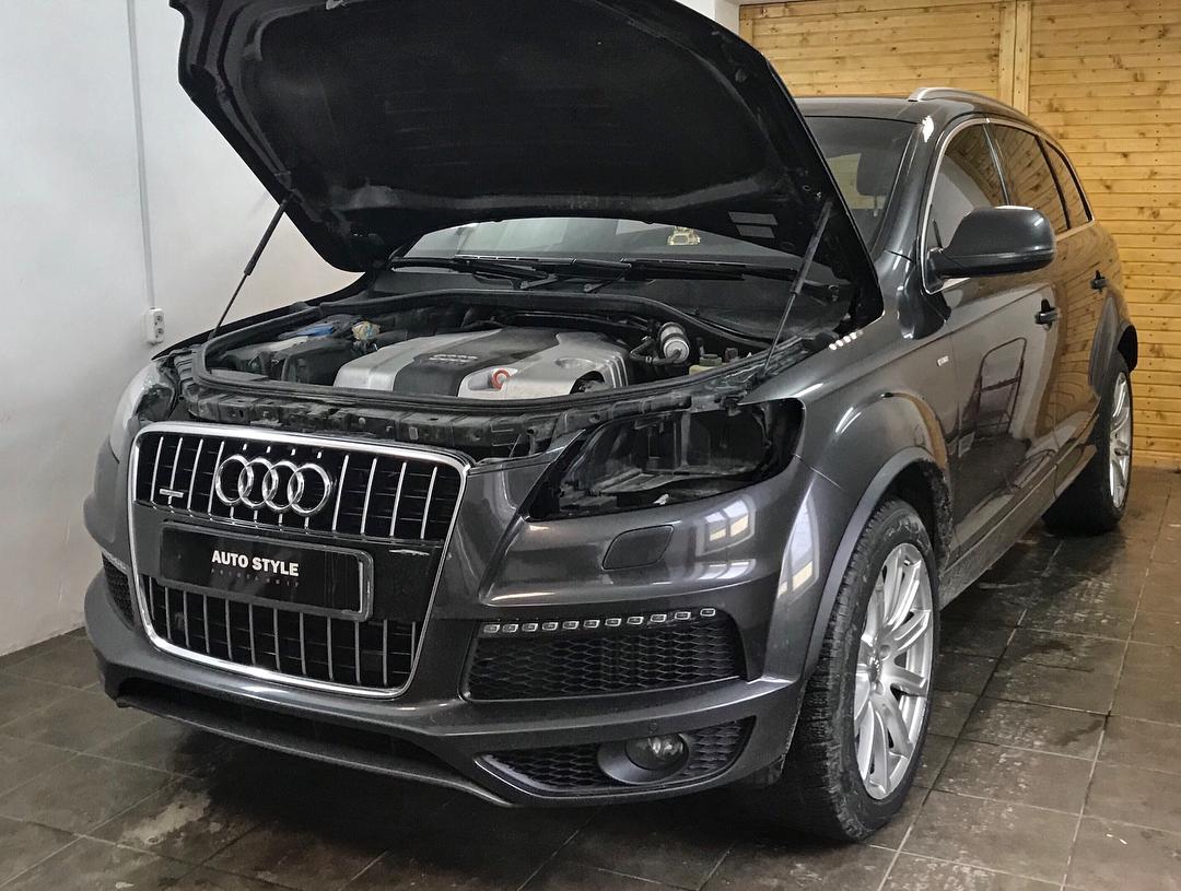 Замена заводских линз Audi Q7