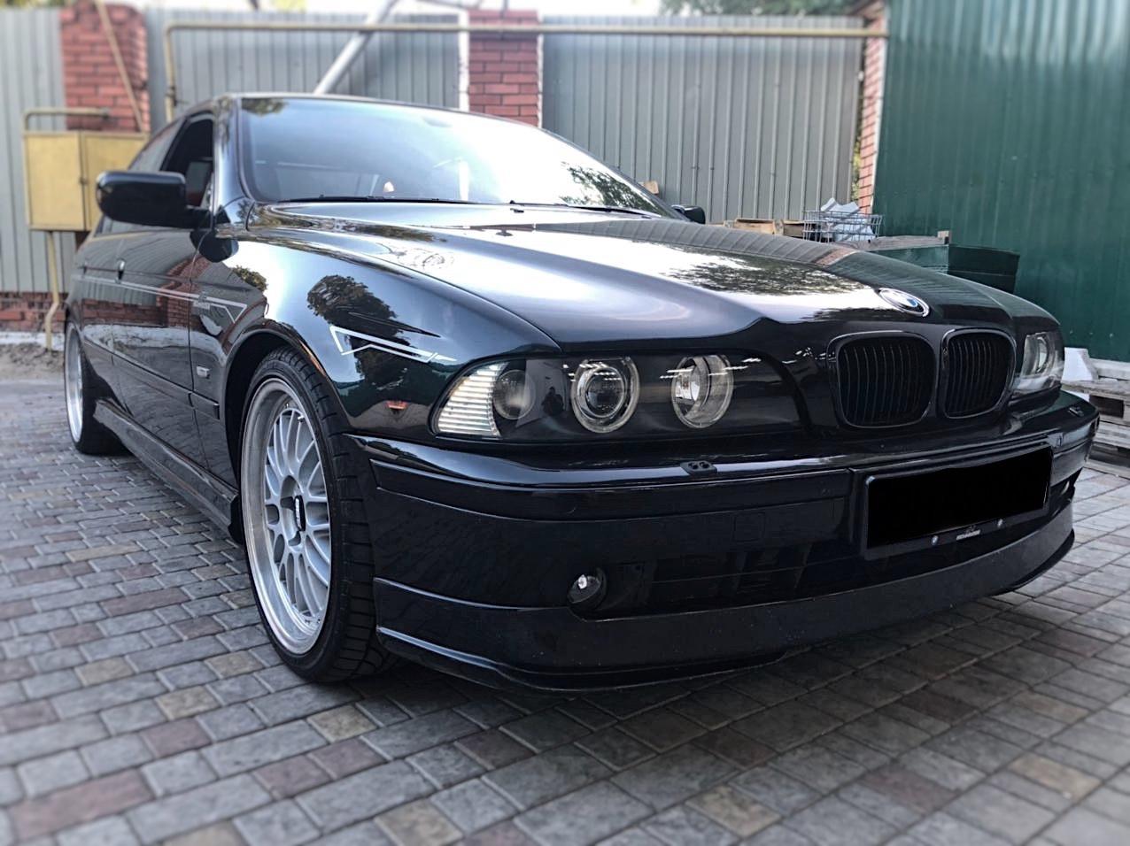 Замена штатных линз в фарах BMW E39